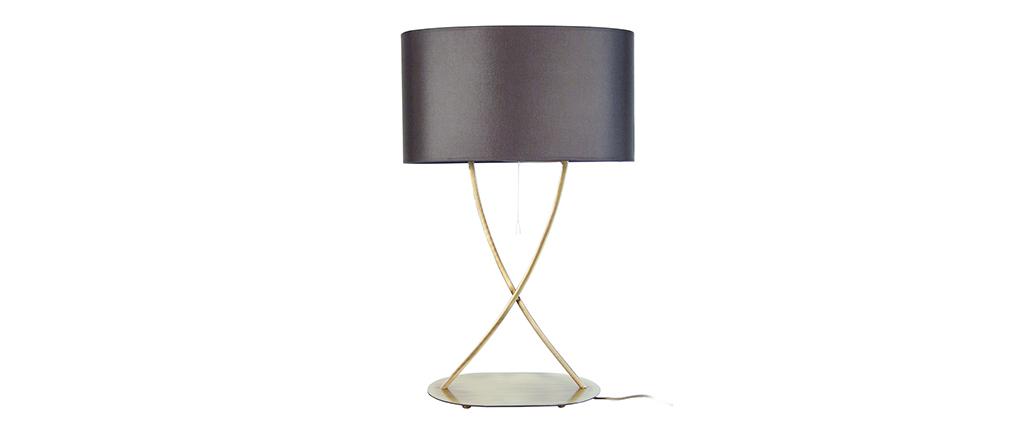 Lámpara de mesa diseño pies cruzados dorados MADAM