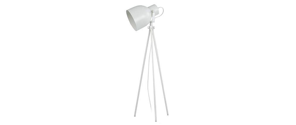 Lámpara de mesa diseño trípode acero blanco CITY