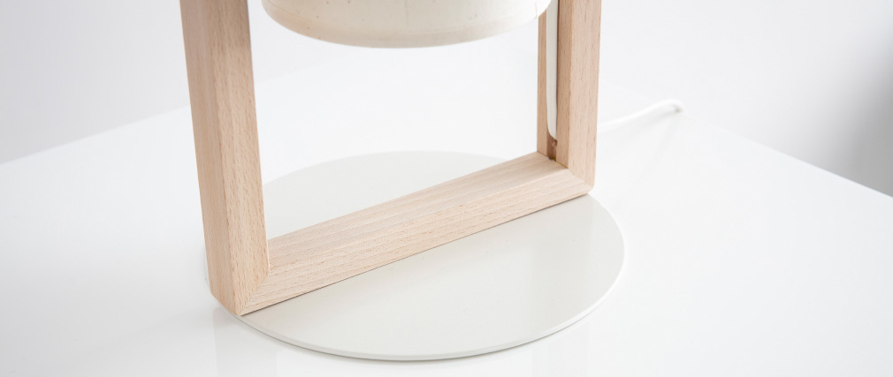 Lámpara de mesa en madera HATHA