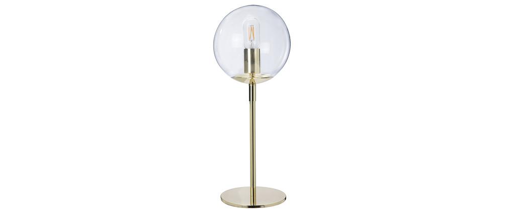 Lámpara de mesa en metal dorado y cristal SOAP