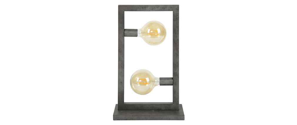 Lámpara de mesa en metal envejecido y cristal LIDO
