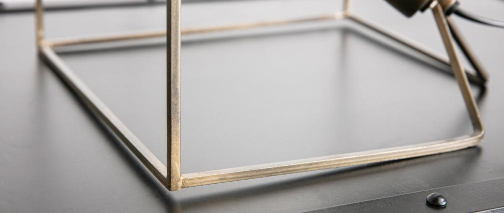 Lámpara de mesa en metal y acabado bronce CORNER