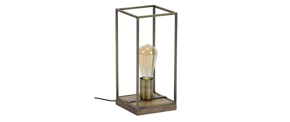 Lámpara de mesa industrial bronce envejecido SOCKEL