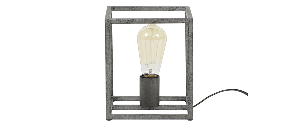 Lámpara de mesa industrial en metal acabado envejecido ARCHI