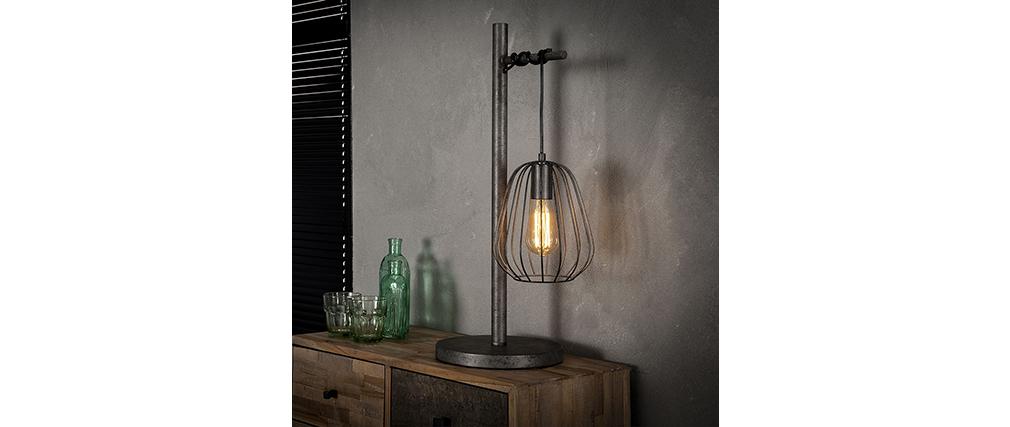 Lámpara de mesa industrial en metal acabado envejecido JELLY