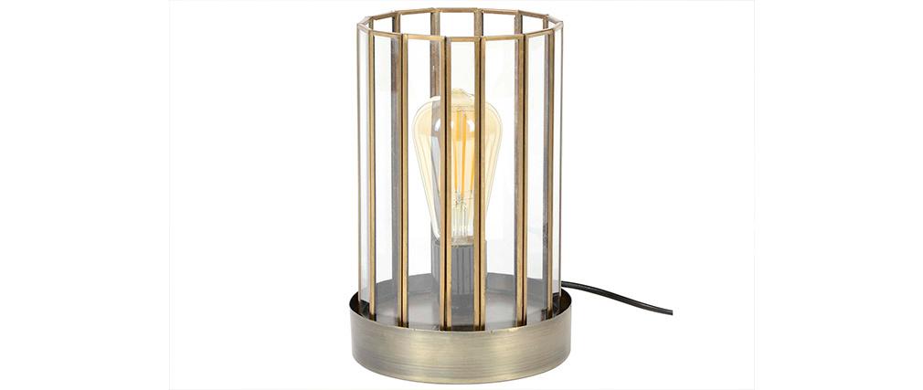 Lámpara de mesa industrial en metal bronce CANOPY