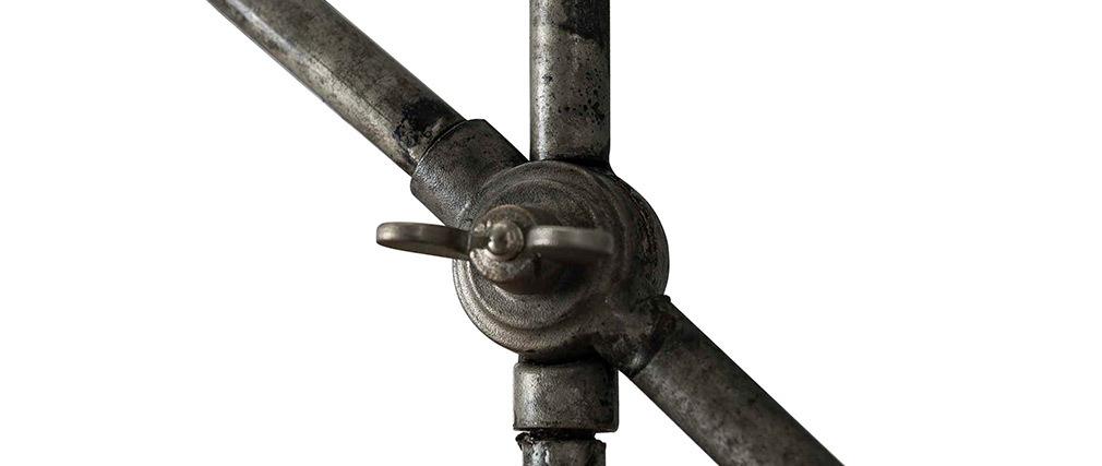 Lámpara de mesa industrial en metal envejecido SHELTER