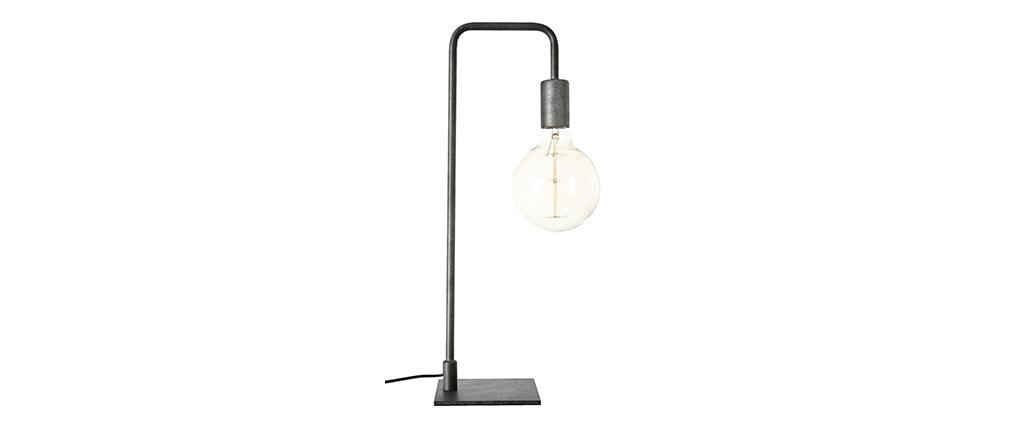Lámpara de mesa industrial en metal negro GARBI