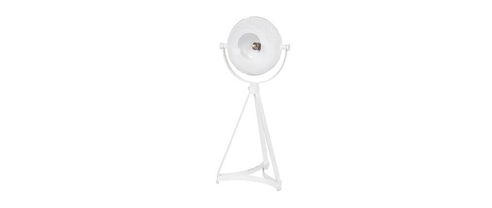 Lámpara de mesa industrial metal blanco BLOUM