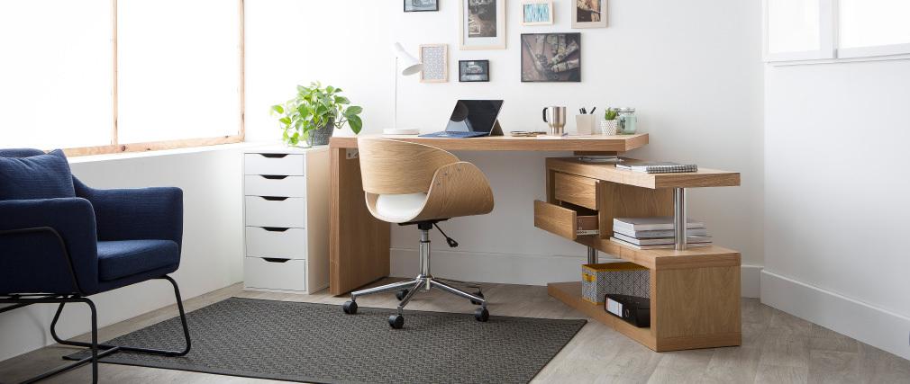 Lámpara de mesa moderna diseño metal blanco AMPLO