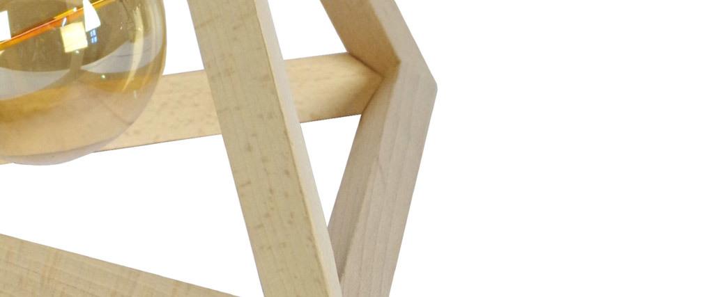Lámpara de mesa pirámide en maderas DUNE