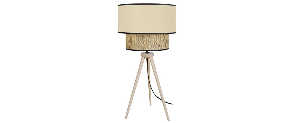 Lámpara de mesa yute y tejido natural CHILL