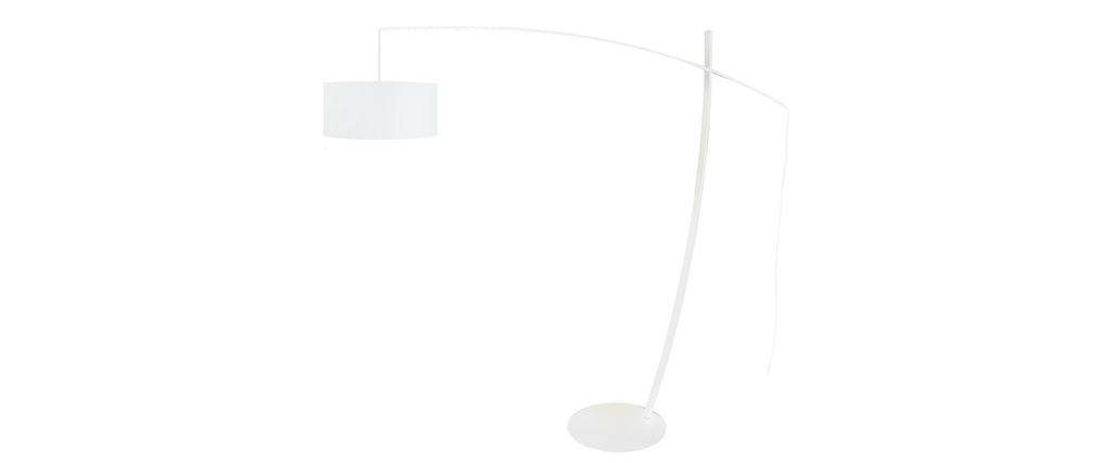 Lámpara de pie arco diseño acero blanca ESCAPE
