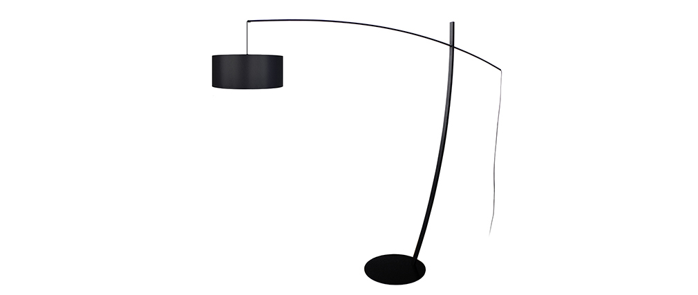 Lámpara de pie arco diseño acero negra ESCAPE