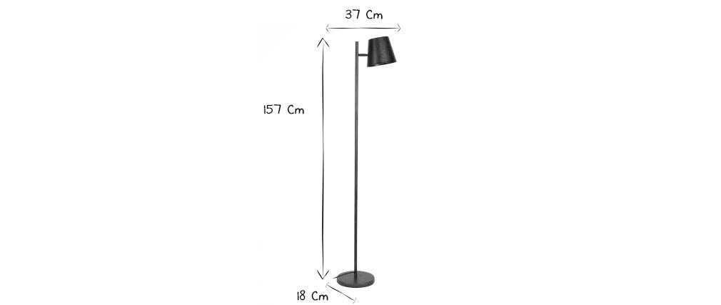 Lámpara de pie con pantalla regulable metal envejecido BELL