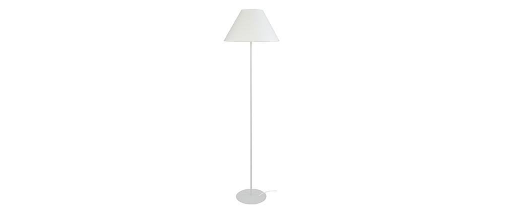 Lámpara de pie diseño acero blanco CONEO
