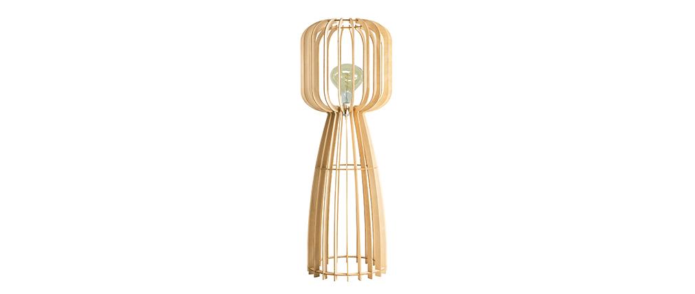 Lámpara de pie en madera clara A125 FIJI