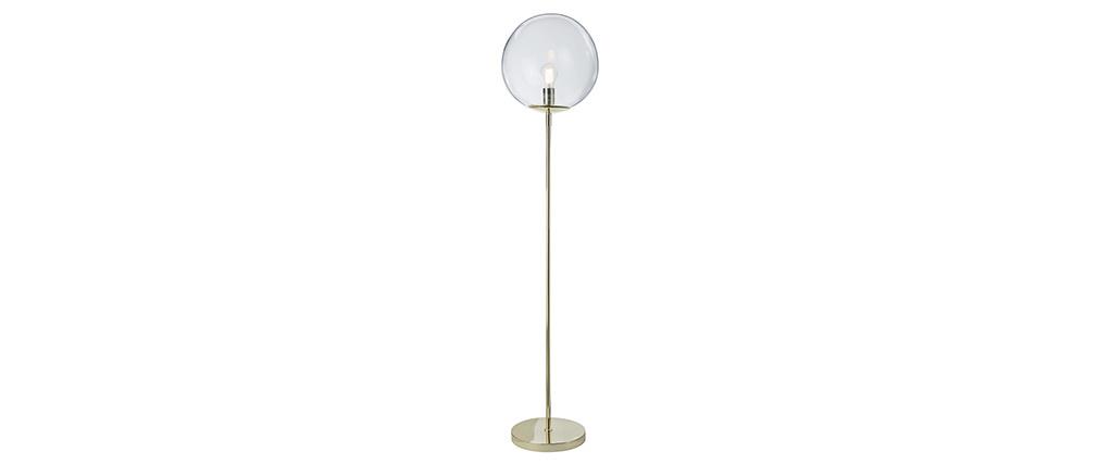 Lámpara de pie en metal dorado y cristal SOAP