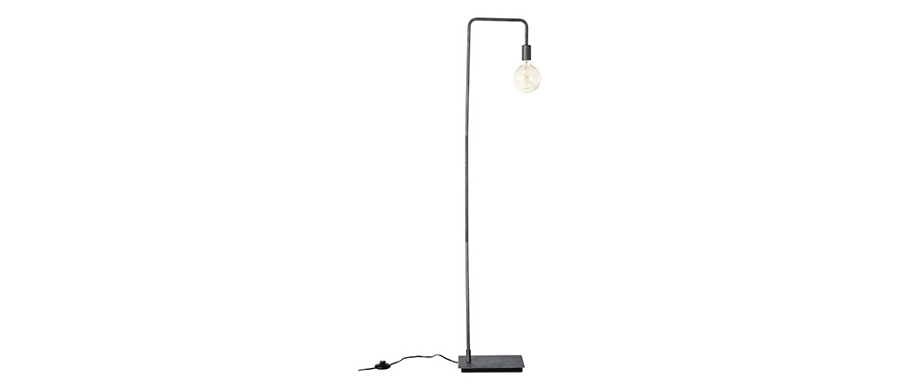 Lámpara de pie industrial acabado envejecido GARBI