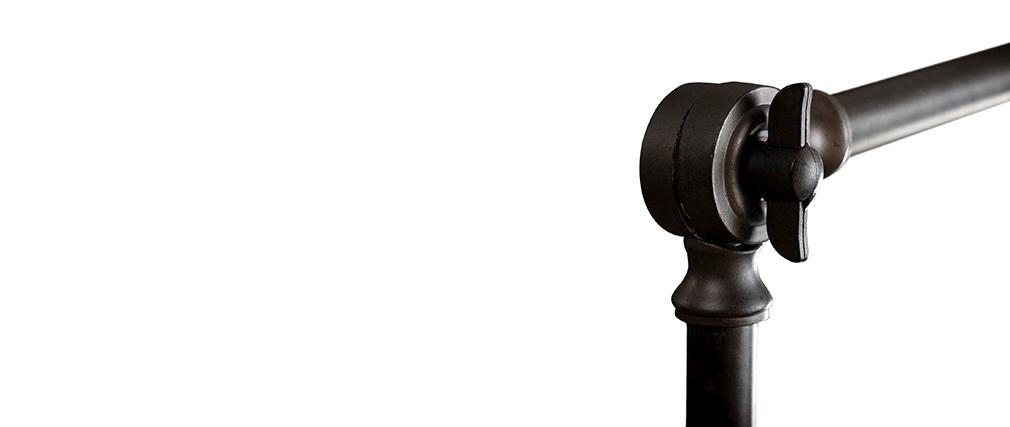 Lámpara de pie industrial en metal gris antracita BUCKET