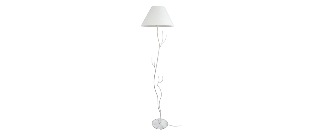 Lámpara de pie moderna acero pie árbol blanca ARBORE