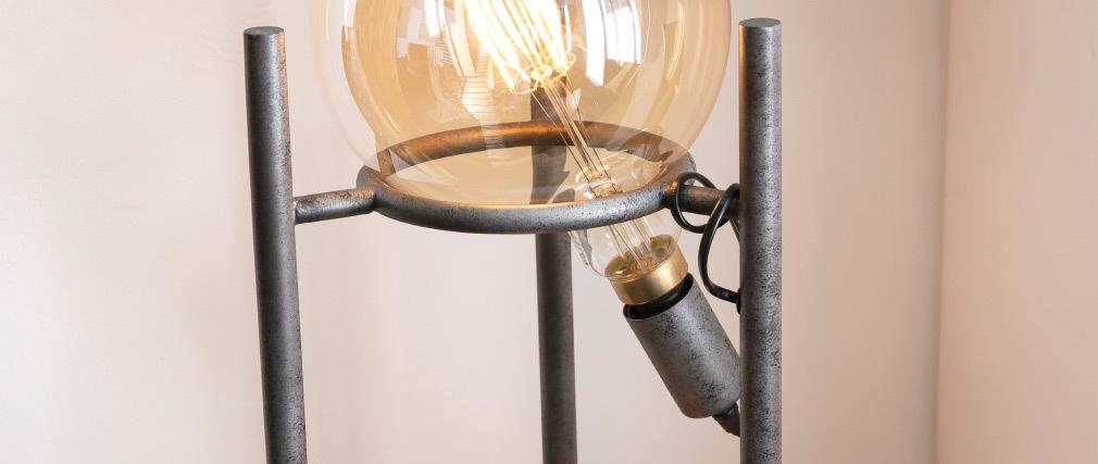 Lámpara de pie moderna en metal envenjecido MARS