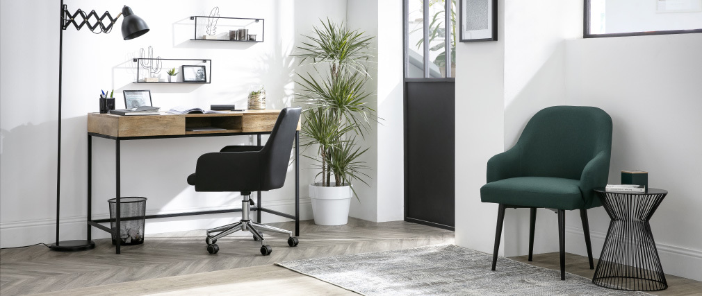 Lámpara de pie moderna extensible acero negra ACCORDEON