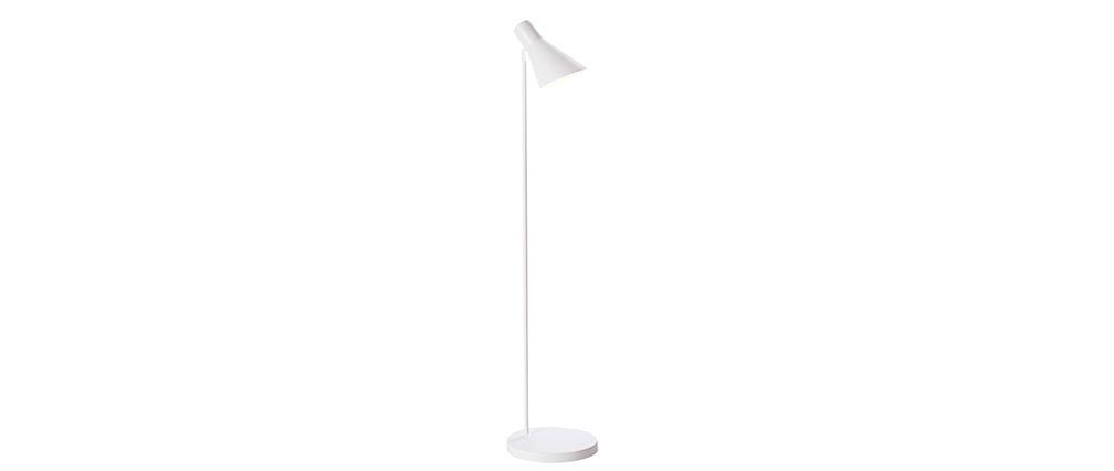 Lámpara de pie moderna metal blanco AMPLO
