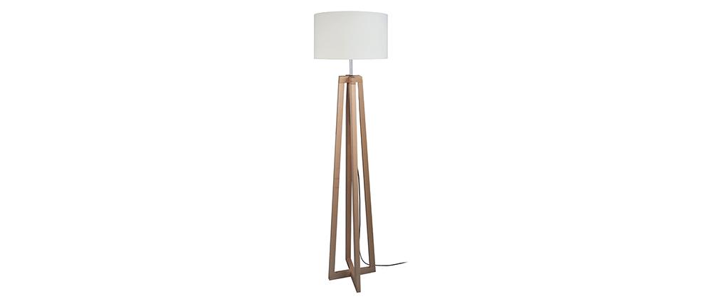 Lámpara de pie moderna pies cruzados madera MANON