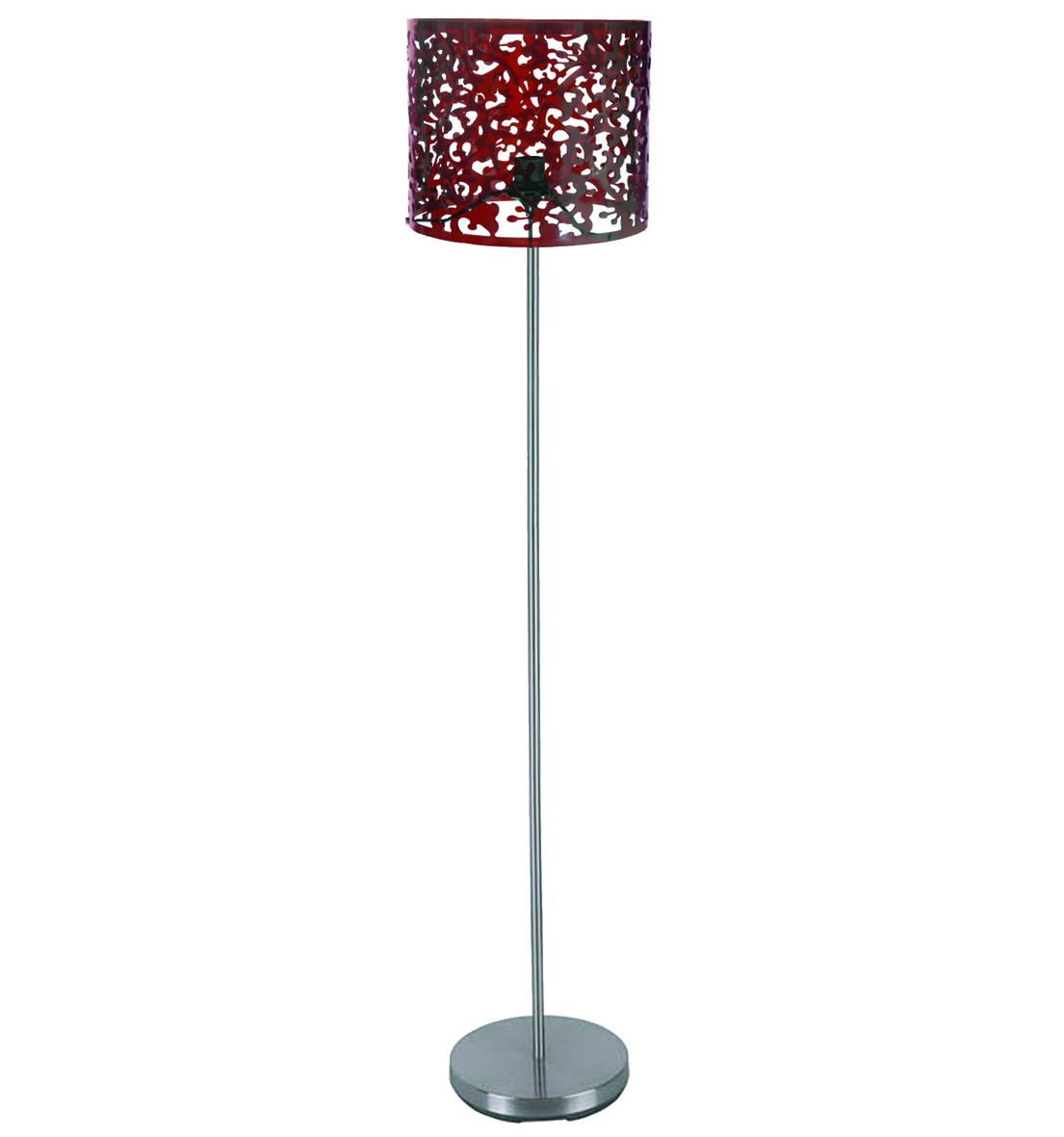 Lámpara de pié Touch OSLO – color rojo