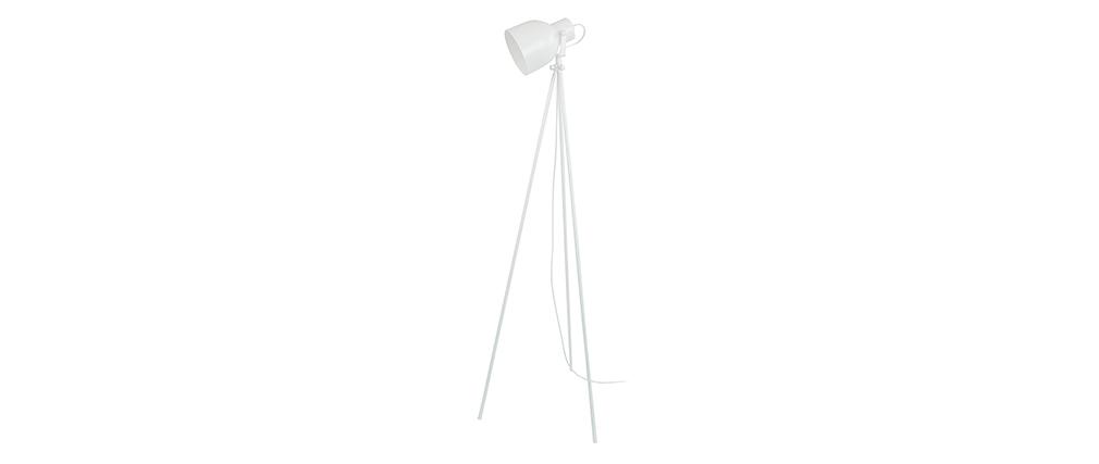 Lámpara de pie trípode acero blanca CITY
