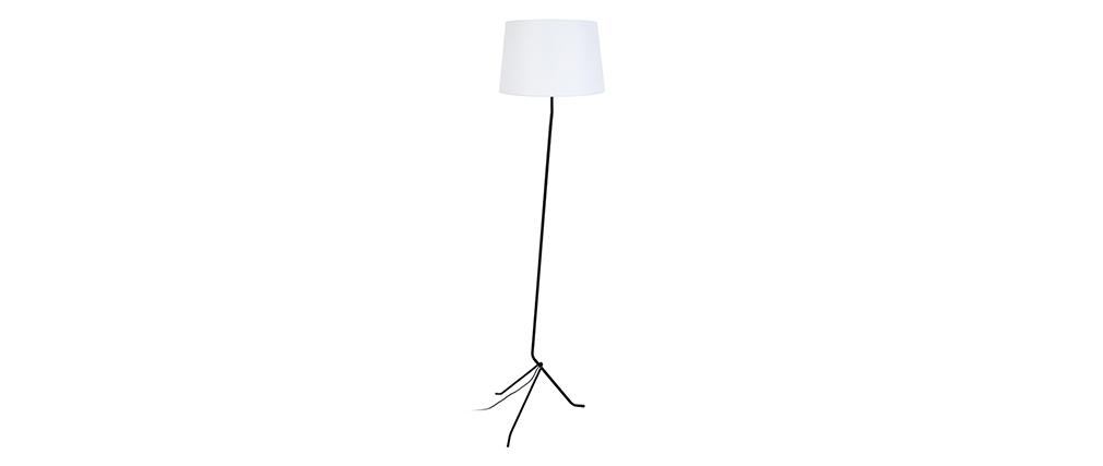 Lámpara de pie trípode acero blanca DANDY
