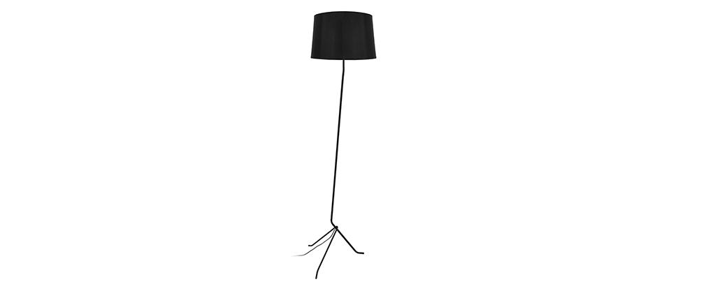 Lámpara de pie trípode acero negra DANDY