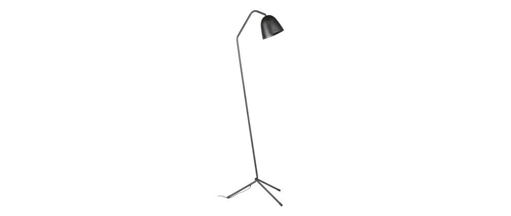 Lámpara de pie trípode metal antracita TRYO