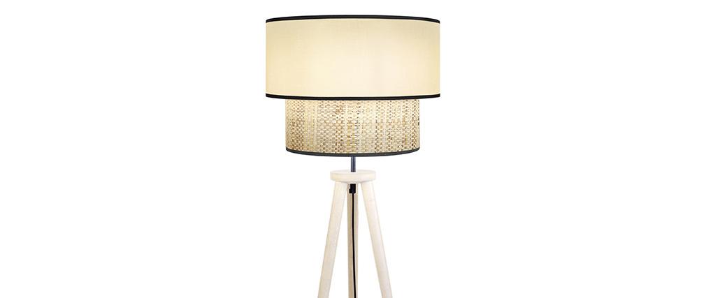 Lámpara de pie yute y tejido natural D40 cm CHILL