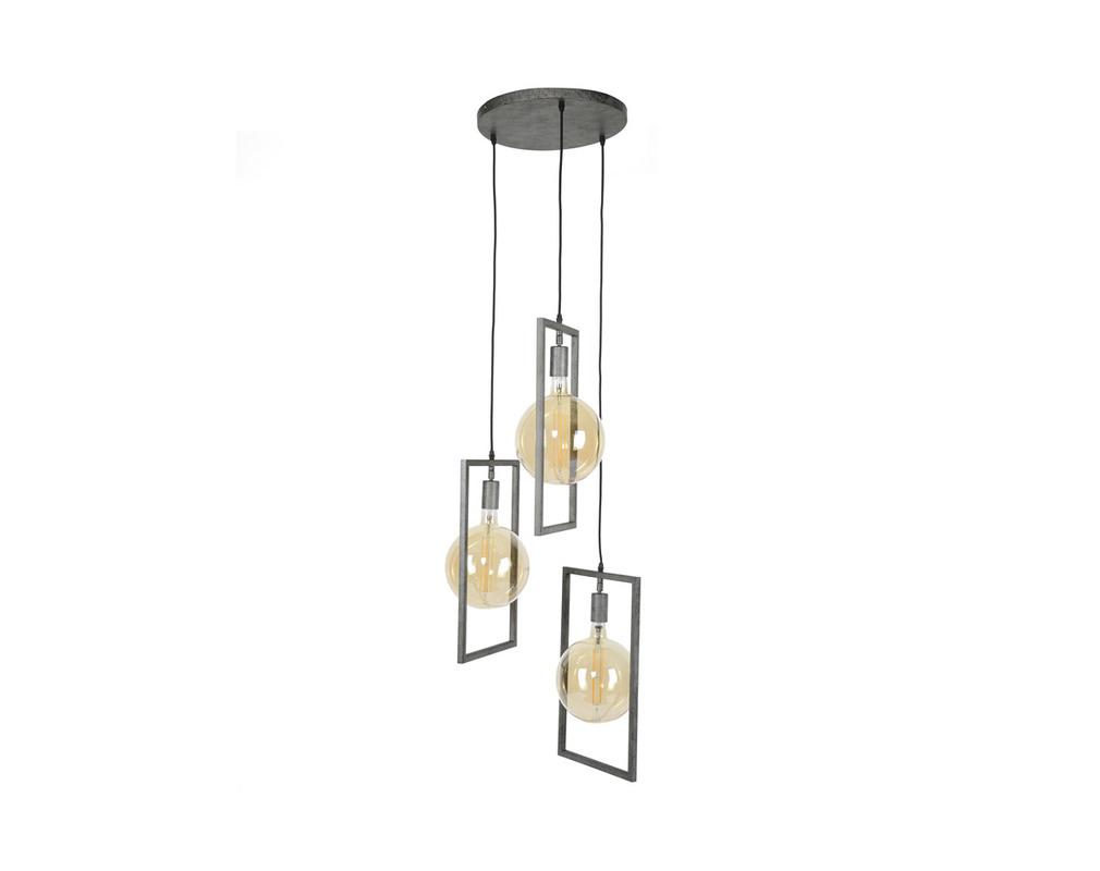 Lámpara de techo 3 bombillas acabado metal envejecido  DIYA