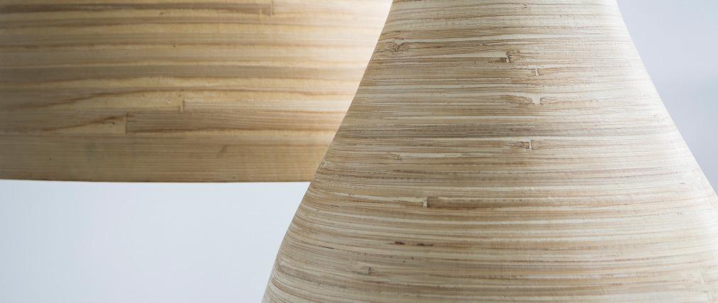 Lámpara de techo bohemia bambú D30cm SELVA