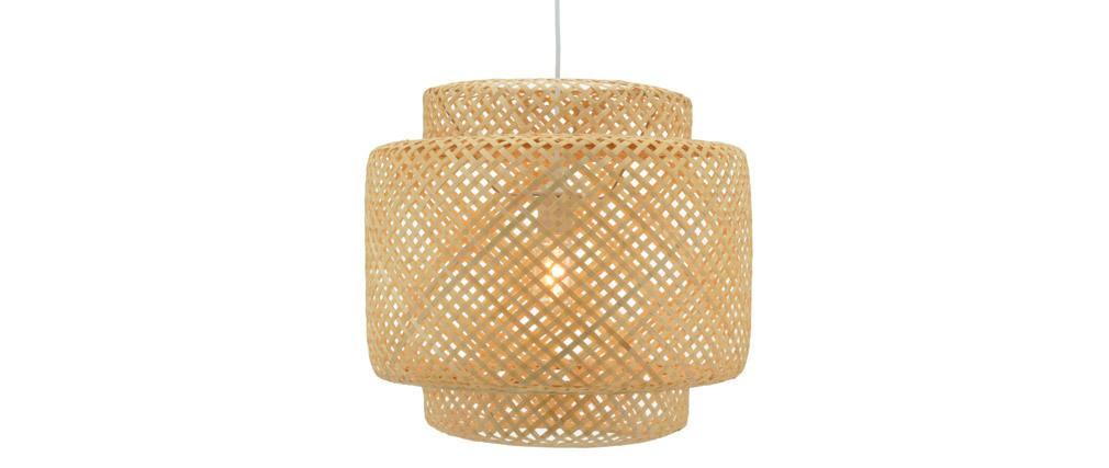 Lámpara de techo bohemia bambú WILD