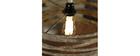 Lámpara de techo con cuerda en zinc envejecido ROPE