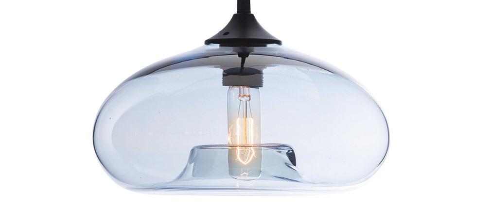 Lámpara de techo cristal transparente azul MISTIC