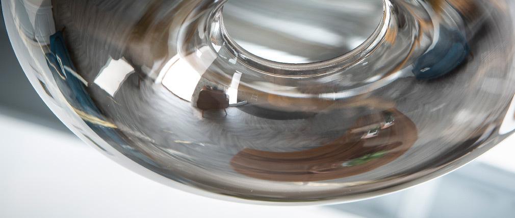 Lámpara de techo cristal transparente negro MISTIC