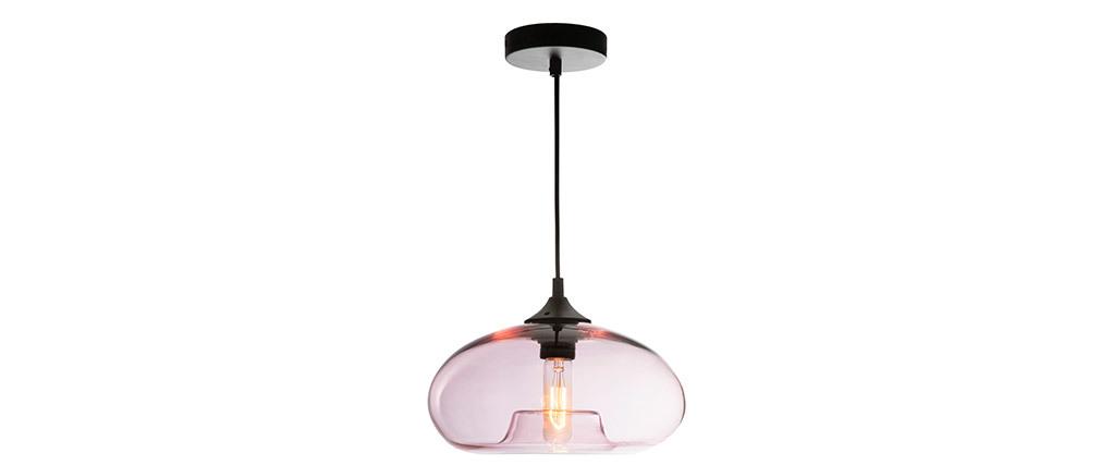 Lámpara de techo cristal transparente rosa MISTIC