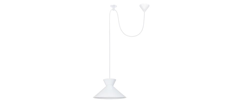 Lámpara de techo diseño metal blanco LEEDS