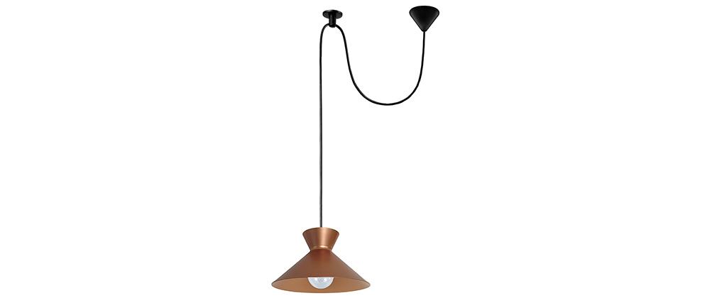 Lámpara de techo diseño metal cobrizo LEEDS