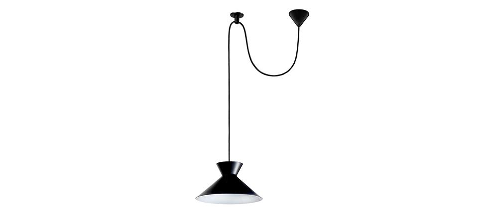 Lámpara de techo diseño metal negro LEEDS