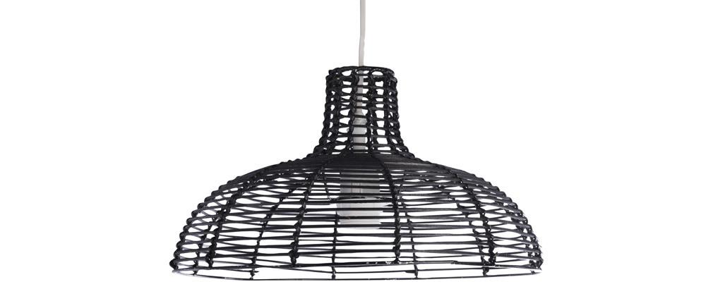 Lámpara de techo en bambú negro CUP