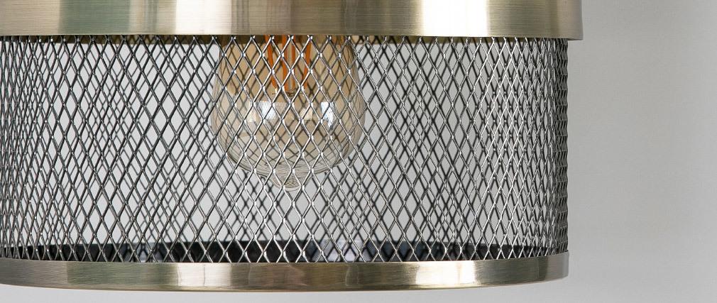 Lámpara de techo en metal dorado y negro RING