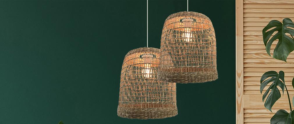Lámpara de techo en ratán D30 cm LANAI