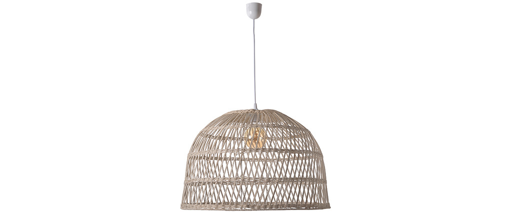 Lámpara de techo en ratán trenzado D60 cm ROCALISA