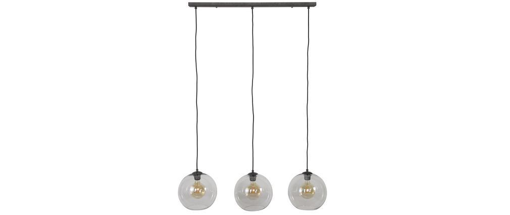 Lámpara de techo en vidrio y metal envejecido COSMO
